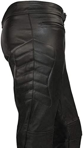 Skintan CE Armoured Mens Leather Motorcycle Trousers Available in 27 31 33 35 Inside Leg Lengths 29
