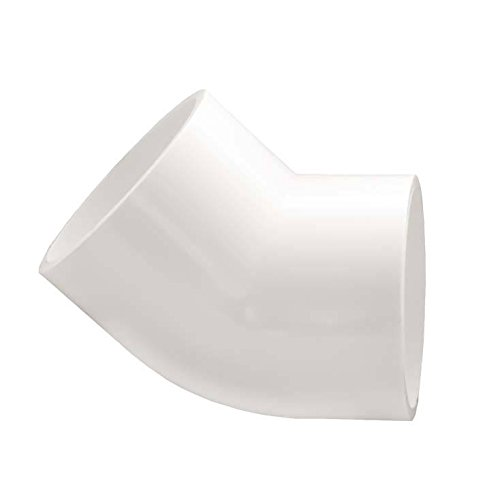 Pipe Red Pvc (PVC 45-Degree Elbow Pipe Fitting - Socket / Slip - Schedule 40 - White - 3/4-Inch - Pack of 12)