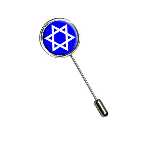 Graphics and More Star Of David - Jewish Stick Hat Brooch Pin