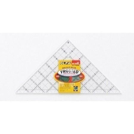 (OLFA 1071796 QR-6RT 6-1/2-Inch Right Triangle Frosted Advantage Acrylic Ruler)