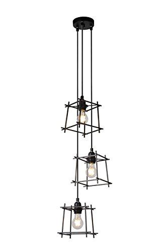 Lucide EDGAR - Suspension - Ø 28 cm - Noir