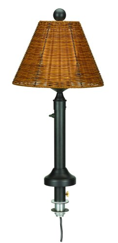 Tahitti 11777 Bronze Umbrella 28-inch Table Lamp With Antique Honey Shade by Patio Living Concepts