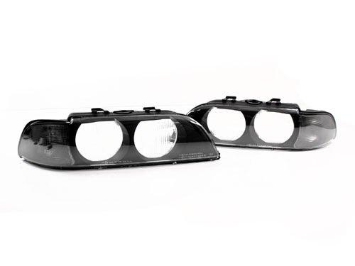 97-00 BMW E39 5-SERIES EURO SMOKED CORNER REPLACEMENT HEADLIGHT LENSES W/FRAMES