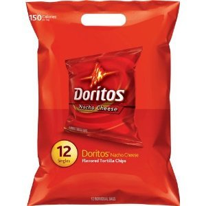 Doritos Nacho Cheese Tortilla Chips 12 Bags