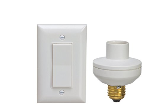 Wireless Remote Control Light Switch and Socket Cap to Turn Lamps and Pull Chain Fixtures On and -