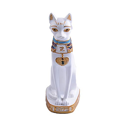 Figurines Miniatures - 1pcs Egyptian Cat Figurine Statue Decoration Vintage Mysterious Goddess Bastet Home Table - People Miniatures Figurines Figurines Miniatures Decor Egyptian Bastet G