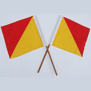 Semaphore Signal Flag Red and Yellow Set of -