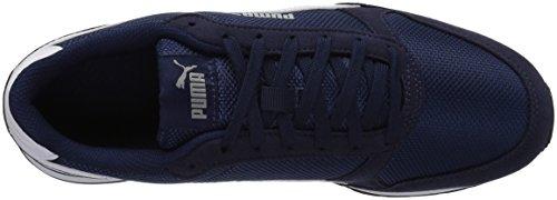 PUMA Unisex-Kids ST Runner V2 Mesh Sneaker, Peacoat White, 2 M US Little Kid by PUMA (Image #8)