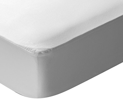 Pikolin Home - Protector de colchon punto, 100% algodon, impermeable y transpirable, 160x200cm-Cama 160 (Todas las medidas)