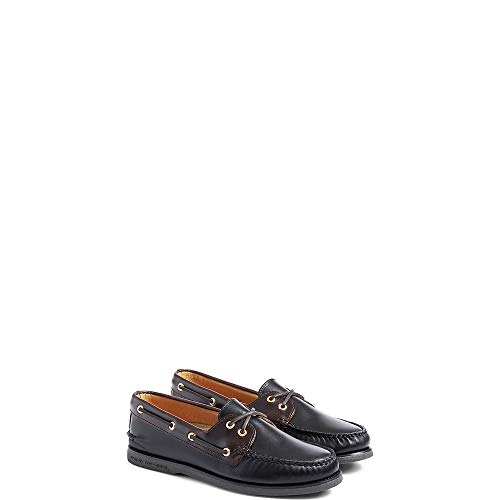 Sperry Men's Authentic Original 2 Eye Boat Shoe,Black/Amaretto,10.5 -