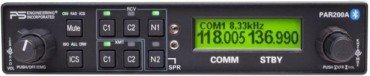 PS ENGINEERING PAR200A AUDIO PANEL WITH REMOTE VHF RECEIVER - TSO