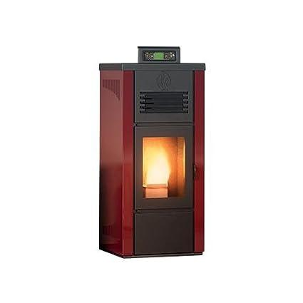 Estufa a PELLAS Palladio Islandia revestimiento de acero Potencia térmica 8 kW – 220 m3 calefactables