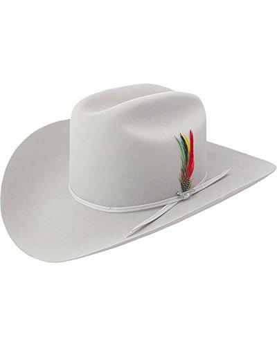 - Stetson Men's 6X Silverbelly Rancher Fur Felt Cowboy Hat Silverbelly 7 3/8