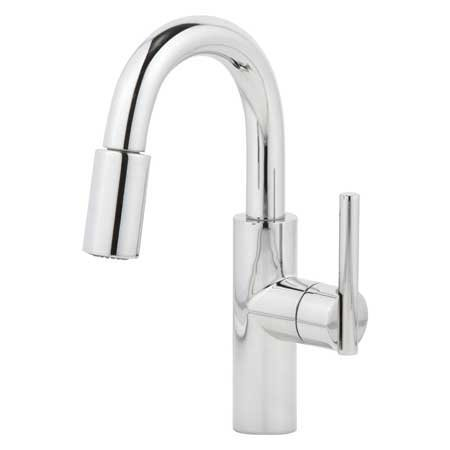 (Newport Brass 1500-5203/15S East Linear Pullout Spray High-Arc Bar Faucet)
