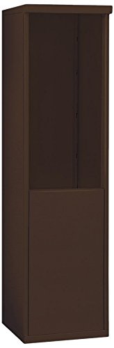 Salsbury Industries 3909S-BRZ Free-Standing Enclosure for 3709 Single Column, (4c Horizontal Mailboxes Box)