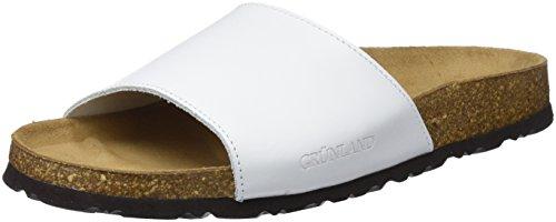 GRUNLAND Sara, Zapatos de Playa y Piscina para Mujer Blanco (Bianco Bianco)