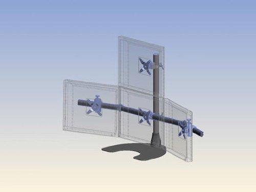 Ergotech 2 x 2 Quad Desk Stand with 28-Inch Pole - Black