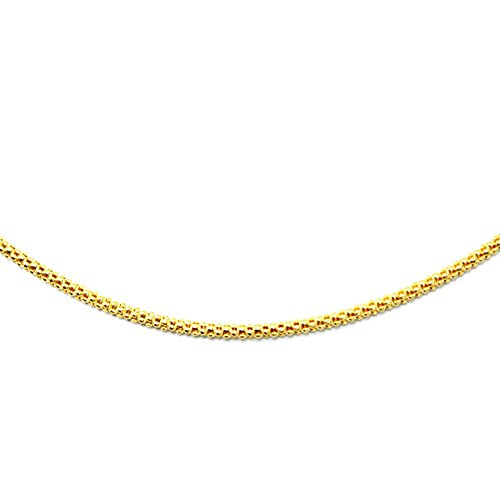 14k Yellow Gold Popcorn Chain 1.44mm (24) (14k Yellow Gold Chain Popcorn)