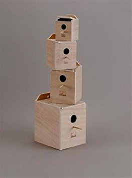 Prevue Pet Products BPV1104 Wood Inside Mount Nest Box for Cockatiel by Prevue Pet Products