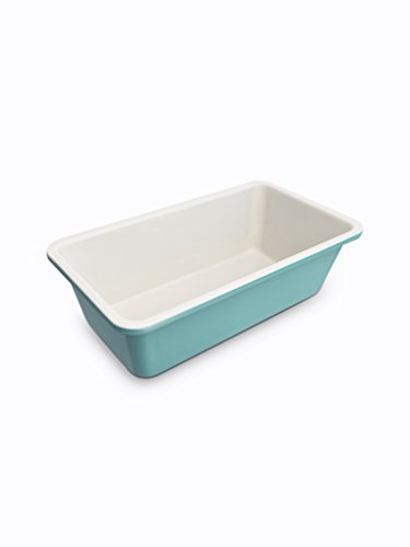 GreenLife Ceramic Non-Stick Loaf Pan, Turquoise (Commercial Pan Loaf)