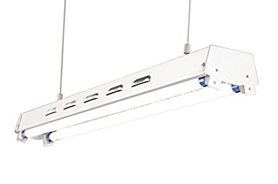 "DuroLux DL822S T5 2Ft 2 Fluorescent Lamps Grow Lighting System with 5000 Lumens and 6500K Full Spectrum and Super Low Profile 3.5"" Wide Reflector"