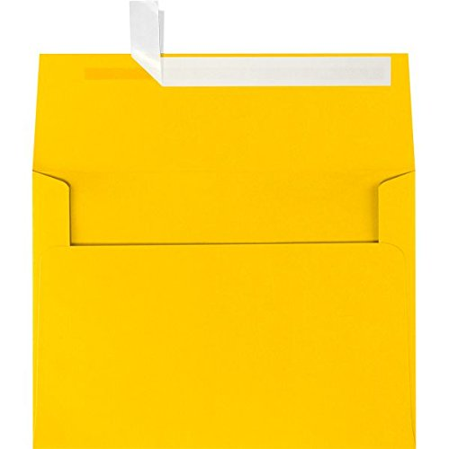 A6 Invitation Envelopes (4 3/4 x 6 1/2) - Sunflower Yellow (50 Qty.)