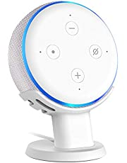 SPORTLINK Table Holder for Echo Dot 3rd Gen Improves Sound Audibility and Appearance - A Must Have Accessories (White)