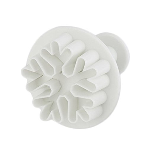 Baynne Snowflake Cookie Cutters, 3 Pcs Decorating Fondant Embossing Tool Snowflake Plunger Cake Cutter Sugarcraft ()