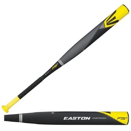 Easton FP14S2 FS2 Composite Fastpitch Softball Bat, Grey/Black/Yellow, 30-Inch/20-Ounce