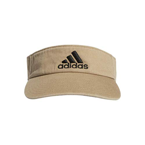 adidas Men's Ultimate Visor, Washed Khaki/Black, One Size