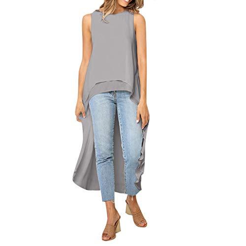 Toimoth Women Casual Irregular Hood Sweatshirt Ladies Hooded Pullover Blouse Tops (XL, GrayB)