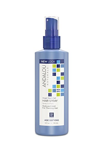 Andalou Naturals Argan Stem Cell Age Defying Hair Spray, 6 Ounce Bottle
