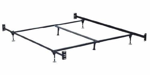 Hollywood Bed Frames Bed Frame with Headboard/Footboard Attachment/6 Legs and Adjustable Glides, California King