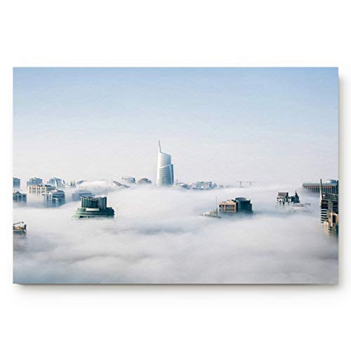 Libaoge Bienvenue Doormat, The City Under The Fog