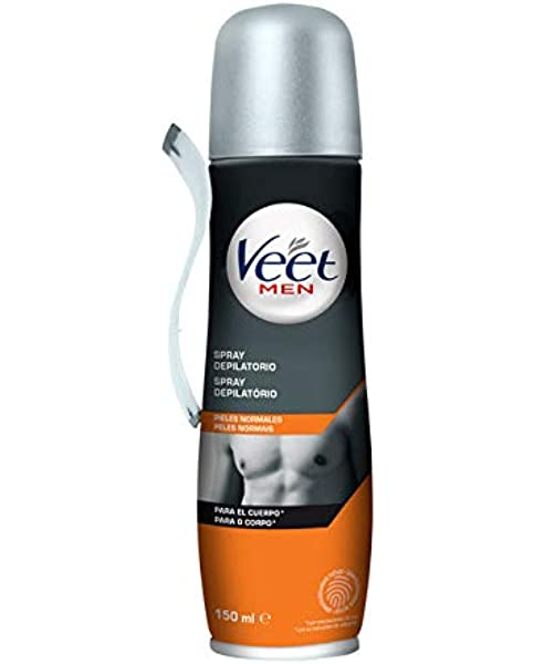Veet for Men Crema depilatoria en Spray para hombre, Piel ...