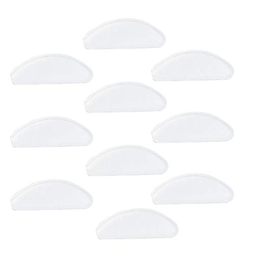 10 Pairs Nose Pad for Glasses, Anti-Slip Soft Silicone Sunglasses Eyeglasses Spectacle Accessories, Melon Shaped Stuck Nose Pad for Bonnie Glasses Old Glasses ()
