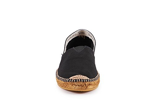 VISCATA Damen Barceloneta Authentic & Original Spanisch Made Espadrille Wohnungen Schwarz