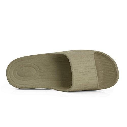 Pantofola Antiscivolo Da Bagno Da Uomo E Da Donna Di Razza Equick Per Interni Casa Sandalo 02olive