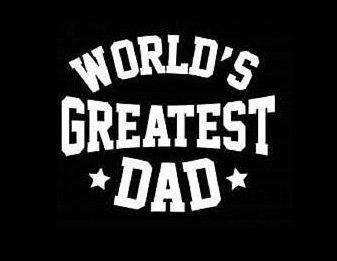 Makarios LLC World's Greatest Dad Stars Decal Vinyl Sticker Cars Trucks Vans Walls Laptop MKR  WHITE  5.5 x 4.5 IN MKR165