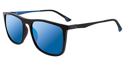 Police sunglasses Vibe 1 (SPL-770 Z42B) Black - Blue - Grey with Blue mirror effect ()
