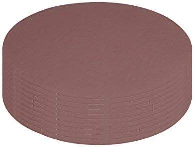 10Pcs 7-inch hook and loop sanding disc 2000 Sands Flocking sandpaper for random orbit sander Brown