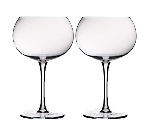 Hand Blown Lead Free Crystal Red Wine Glasses - Set Of 2 Large Wine Balloon Glass Specifically Designed With Their Elegant Shape To Enhance The Natural Aroma Of Your Wine - By TobyGlobal