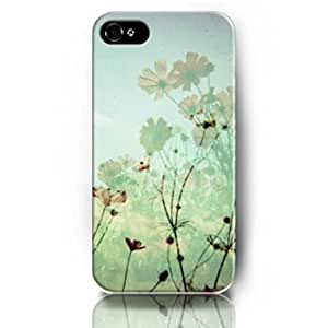 Lovers Gifts 44D46UZ8H51ETTC1 Case for iPhone 5/5S Protective Snap on Case Skin with Elegant Design of Daisy Flowers