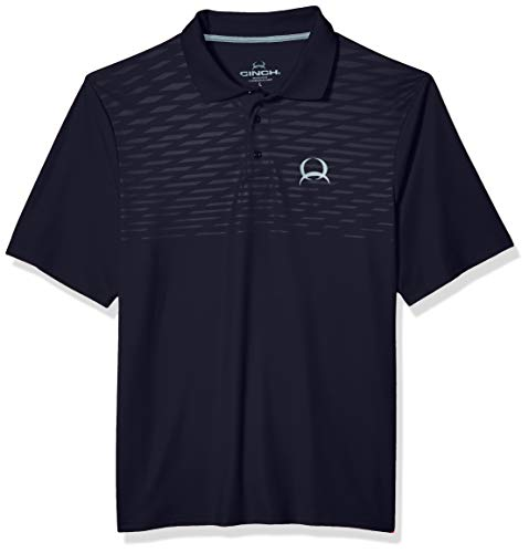 Image of Cinch Men's Arenaflex Polo Shirt, Cesar Navy, M