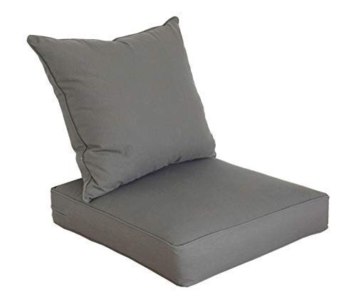 - SewKer Indoor/Outdoor Patio Deep Seat Cushion Set Simple Modern Grey 3605