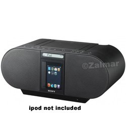 Sony ZSS4IP 30-Pin iPhone/iPod Portable CD Radio Boombox Speaker Dock (Black) (Discontinued by Manufacturer) (Sony Ipod Player)