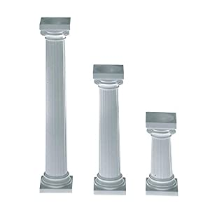 Wilton 303-3606 4-pack Grecian Spiked Pillars For Cakes 3-inch from Wilton