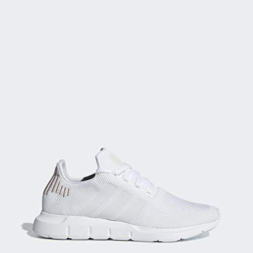 adidas Originals Women's Swift Run Sneaker, White/Crystal White/White, 7 M US