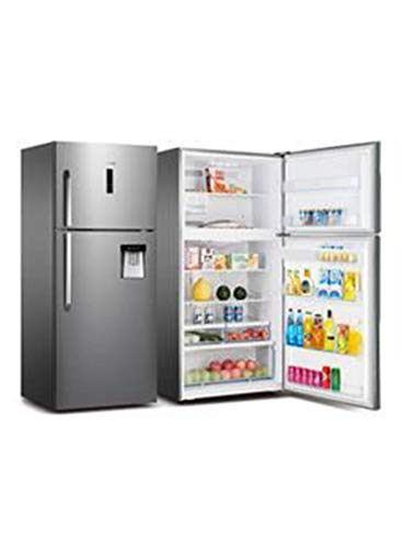 Hisense 550 Liters Double Door Refrigerator, stainless steel colour - RT715N4ACB