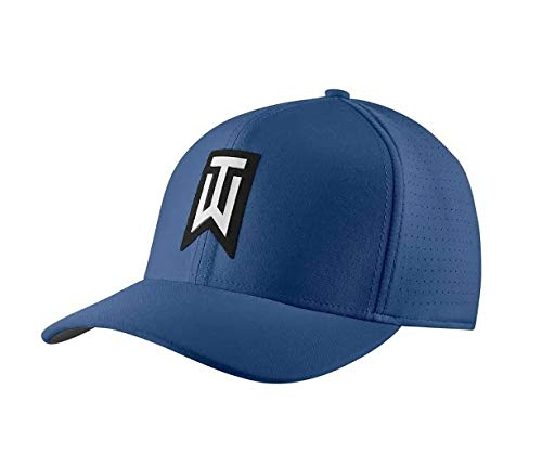 NIKE TW AeroBill Classic 99 Performance Golf Cap 2018 Gym Blue/Anthracite/White Medium/Large (Nike Classic Cap)